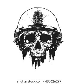 military skull images stock photos vectors shutterstock https www shutterstock com image vector flatvector drawing human skull military helmet 488626297