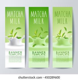 Flavored Creamy Milk Banner Template : Vector Illustration