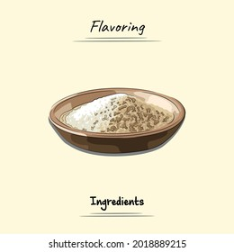 Flavoring Illustration Sketch And Vector Style. Good to use for restaurant menu, Food recipe book and food ingredients content.