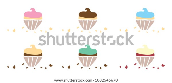 Flavoured Cupcakes with Crumbs
