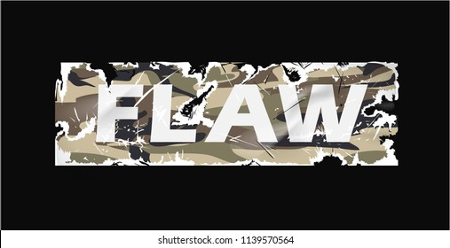 flaw camouflage sticker worn out illustration