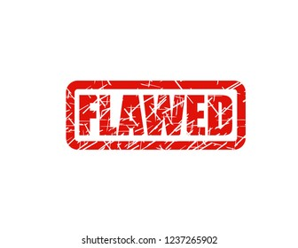 Flawed red stamp