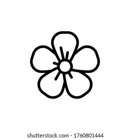 Flax flower icon. Simple line, outline vector elements of botanicals icons for ui and ux, website or mobile application