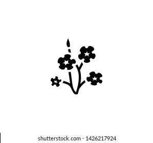 Flax vector isolated flat illustration. Flax icon