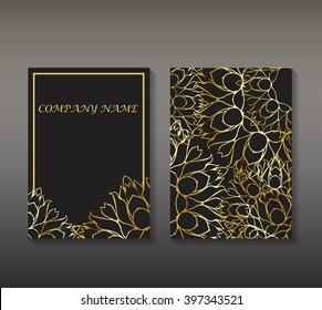 flayer with gold patterns,mandala