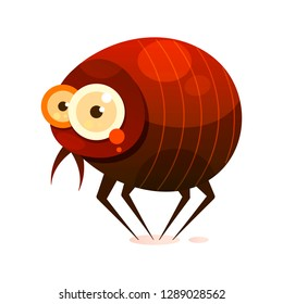 Fleas-insect Pests, Leading A Parasitic Lifestyle, Vector Illustration On A White Background. Logotype
