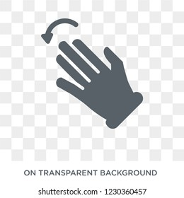 Fleck Left gesture icon. Trendy flat vector Fleck Left gesture icon on transparent background from Hands and guestures collection.