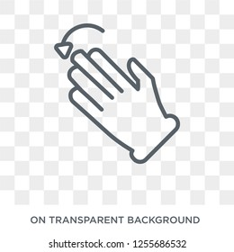 Fleck Left gesture icon. Trendy flat vector Fleck Left gesture icon on transparent background from Hands and guestures collection. High quality filled Fleck Left gesture symbol use for web and mobile