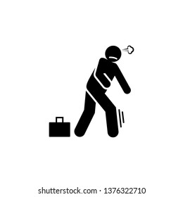 Flee, run away, running away icon. Element of negative character traits icon. Premium quality graphic design icon. Signs and symbols collection icon for websites