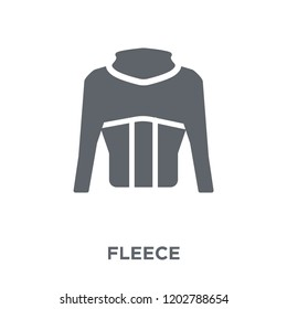 Fleece icon. Fleece design concept from Fleece collection. Simple element vector illustration on white background.