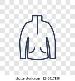 Fleece icon. Trendy linear Fleece logo concept on transparent background from Clothes collection