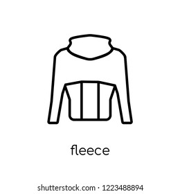fleece icon. Trendy modern flat linear vector fleece icon on white background from thin line Fleece collection, outline vector illustration