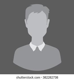 Flete guy, man, woman, avatar, profile photo, gray silhouette isolated vector