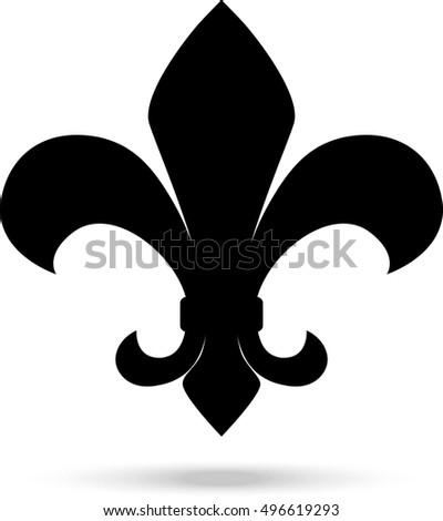 Fleur Illustration fleur de lille vector illustration stock vector (royalty free