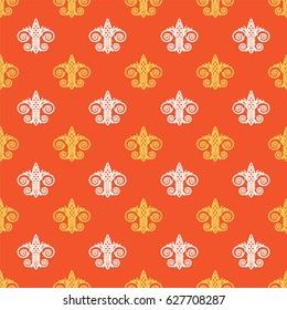 Fleur de Lis background texture. Seamless pattern. Vector illustration