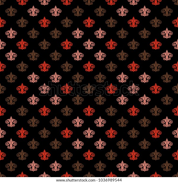 Fleur De Lis Background Texture Seamless Stock Vector Royalty Free 1036989544