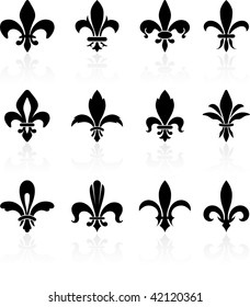 fleur de lis black and white design collection