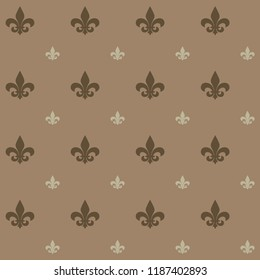 Fleur de lis design pattern. It can be used as wallpaper, gift or wrapping paper, notebook cover, background card for gift card, background print for table or poster.