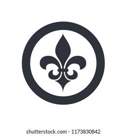 fleur de lis heraldic icon