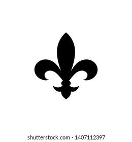 Fleur de lis heraldic icon.  Vector