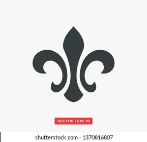 Fleur De Lis Heraldic Symbol Icon Vector Illustration