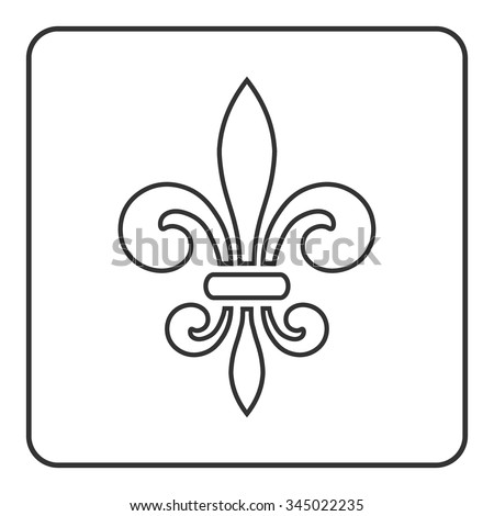 Fleur De Lis Icon Fleurde Lis Sign Stock Vector Royalty Free