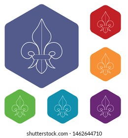 Fleur de lis icon. Outline illustration of fleur de lis vector icon for web