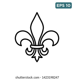 fleur de lis icon vector design template