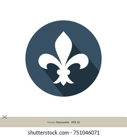 Fleur De Lis Icon Vector Logo Template Illustration Design. Vector EPS 10.