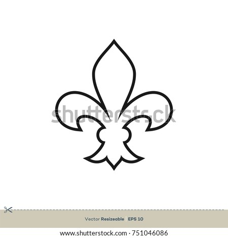 Fleur De Lis Icon Vector Logo Template