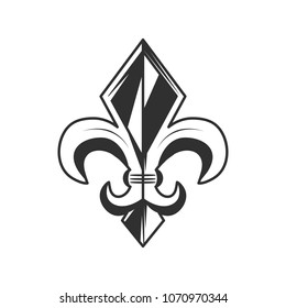 Fleur de lis logo, icon. Vector illustration.