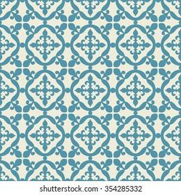 Fleur de lis seamless pattern. Vector illustration Portuguese, Moroccan, Spanish tile.