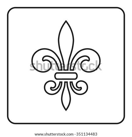 Fleur de Lis symbol. Fleur-de-Lis sign. Royal french lily.