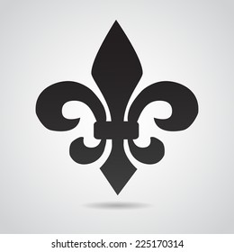 Fleur de Lis. Symbol isolated on white background. VECTOR art.