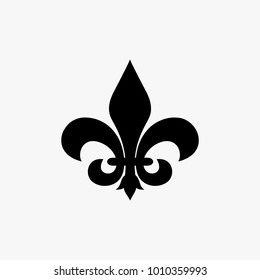 Fleur de lis vector illustration isolated on white background