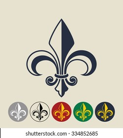Fleur de Lis.  Vector illustration