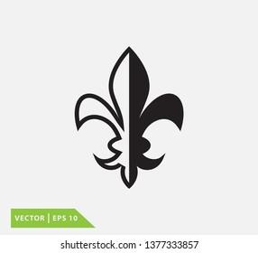 Fleur de lis vector logo template