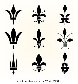 Fleur de lis vintage  set design elements