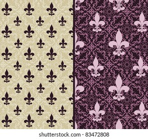 Fleur de lis wallpaper 2 choices (release clip mask)