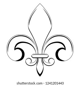 Fleur de lys symbol. Vector illustration design