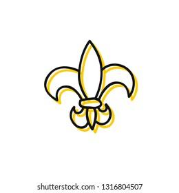 fleur-de-lis doodle icon