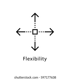 Flexibility Vector Line Icon