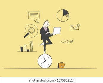 Flexible work time schedule concept. Part time work.