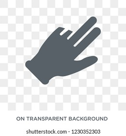 Flick Up gesture icon. Trendy flat vector Flick Up gesture icon on transparent background from Hands and guestures collection.