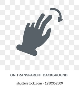 Flick Right gesture icon. Trendy flat vector Flick Right gesture icon on transparent background from Hands and guestures collection.
