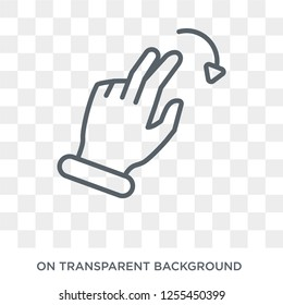 Flick Right gesture icon. Trendy flat vector Flick Right gesture icon on transparent background from Hands and guestures collection. High quality filled Flick Right gesture symbol use for web and