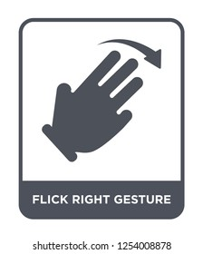 flick right gesture icon vector on white background, flick right gesture trendy filled icons from Hands and guestures collection, flick right gesture simple element illustration