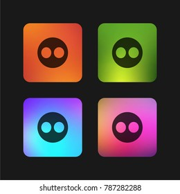Flickr logo four color gradient app icon design