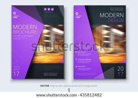 Flier Design Corporate Business Template Brochure Stock Vector