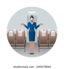 Flight Attendant Safety Instructions, flight attendant demonstrate emergency exit . Safety on board